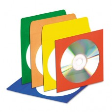 Cd/dvd Envelopes With Clear Window, Assorted Colors, 50/pack