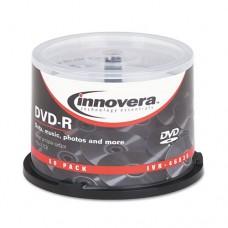 Dvd-R Discs, Hub Printable, 4.7gb, 16x, Spindle, Matte White, 50/pack
