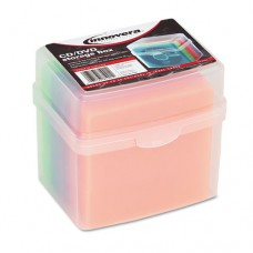 Cd/dvd Slim Storage Box, Holds 20 Discs, Clear