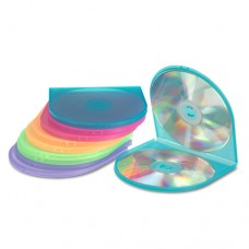 Cd/dvd Shell Case, Assorted Colors, 10/pack