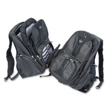 Contour Laptop Backpack, Nylon, 15 3/4 X 9 X 19 1/2, Black