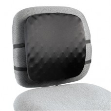 Halfback Back Support Chair Pad, 13w X 1 1/2d X 13 3/4h, Black