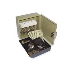 Key Cabinet/drawer Safe, 10-Key, Steel, Pebble Beige, 6 3/4 X 6 7/8 X 3
