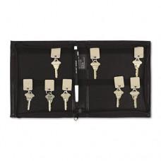 Security-Backed Zippered Case, 24-Key,vinyl, Black, 7 X 1 X 8 3/8