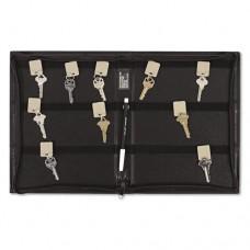 Security-Backed Zippered Case, 48-Key, Vinyl, Black, 9 X 1 X 11 5/8