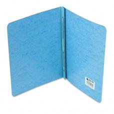 "Presstex Report Cover, Prong Clip, Letter, 3"" Capacity, Light Blue"