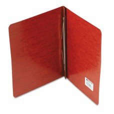 """Pressboard Report Cover, Prong Clip, Letter, 3"""" Capacity, Red"""