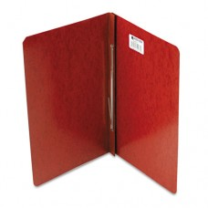 "Presstex Report Cover, Prong Clip, Legal, 3"" Capacity, Red"