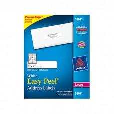 Avery Easy Peel 1X4 White Mailing