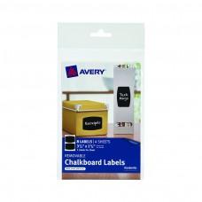 Avery Rectangle 8pk Removable Chalkboard Labels 3 3/4x 2 1/2