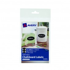 Avery Oval 12pk Removable Chalkboard Labels 3 3/4x 1 3/4