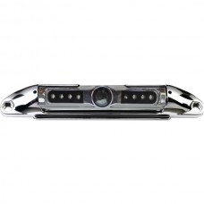 Bar-Type 140deg License Plate Camera with IR Night Vision & Parking-Guide Lines (Chrome)
