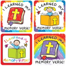 I Learned My Memory Verse Stickers 120 Pc