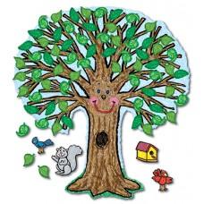 Bb Set Big Tree Kid-Drawn 48 X 54