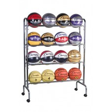 Portable Ball Rack 4 Tier Holds 16
