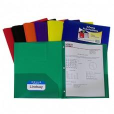Two Pocket Poly Portfolios 36/Box