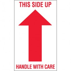 """3"""" x 5"""" - """"This Side Up - Handle With Care"""" Arrow Labels"""