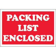 """2"""" x 3"""" - """"Packing List Enclosed"""" Labels"""