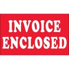 "3"" x 5"" - ""Invoice Enclosed"" Labels"