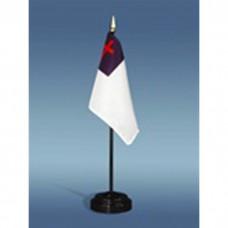 """4"""" X 6"""" E-Gloss Mtd Christian Flag W/Fr"""