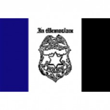 3 X 5 Nyl Police Mourning O/D Flag