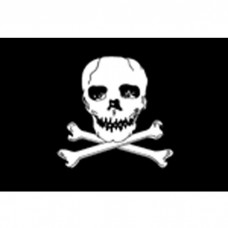 "4"" X 6"" E-Gloss Mtd Jolly Roger Flag W/Fr"