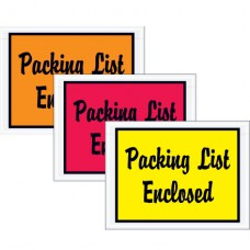"""4 1/2"""" x 6"""" Red """"Packing List Enclosed"""" Envelopes"""