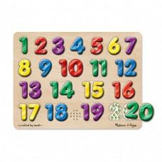 Spanish Numbers Sound Puzzle 20 Pcs