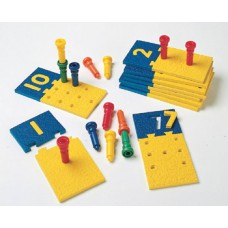 Number Puzzle-Boards & Pegs 10