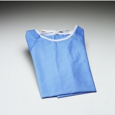 Cloth Patient Examination Gowns Hook and Loop Closure Blue X-Large