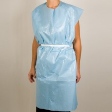 MooreBrand X-Ray Exam Gowns Tissue/Poly Blue 30 x 42