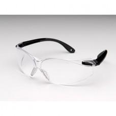 Virtua V4 Safety Glasses Black Temple Frame /Gray Overmold Clear Hardcoat Lens
