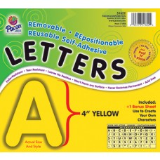 Self Adhesive Letter 4In Yellow