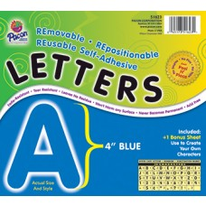 Self Adhesive Letter 4In Blue