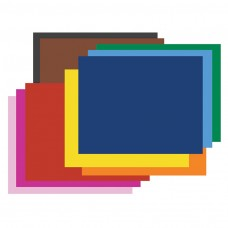 Four-Ply Railroad Board in Ten Assorted Colors, 28 x 22, 100/Carton