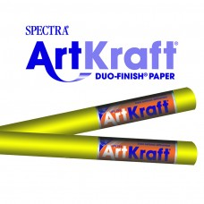 "Spectra ArtKraft Duo-Finish Paper, 48 lbs., 48"" x 200 ft, Canary Yellow"