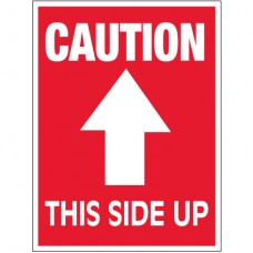 """3"""" x 4"""" - """"Caution - This Side Up"""" Arrow Labels"""