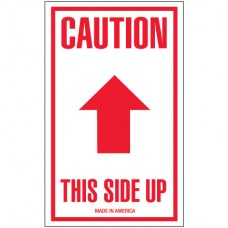 """3"""" x 5"""" - """"Caution - This Side Up"""" Arrow Labels"""