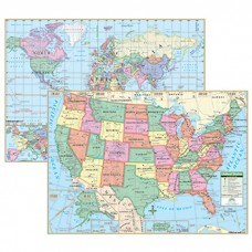 Us & World Primary Deskpad Maps 5Pk